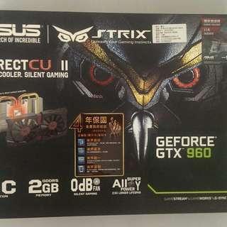 便宜出清華碩 ASUS STRIX-GTX960-DC2OC-2GD5
