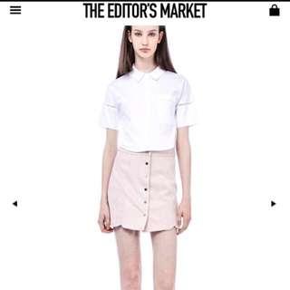 Editor's Market Pink Suede Skirt