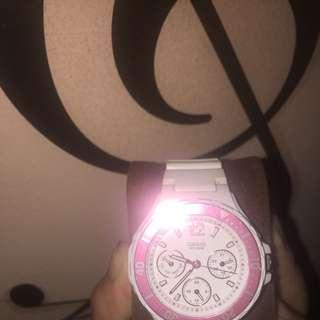 casio pink watch