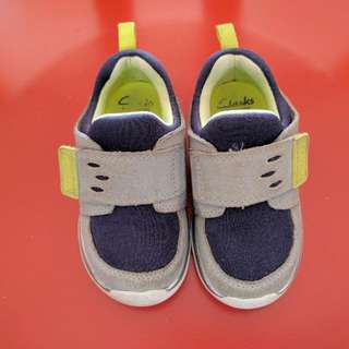 Clark's Children Shoes / Clark's Toddler Shoes  (Grey And Blue) - Authentic