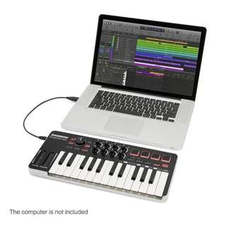 25keys MIDI USB Keyboard M25 Samson With Drum Pads