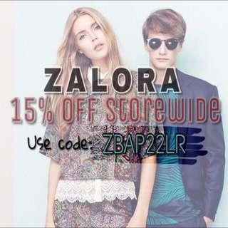 15% Off Zalora