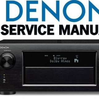 Denon X5200 AVR Service Manual