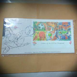 1992 Singapore - Games Of the XXVth Olympiad Fdc
