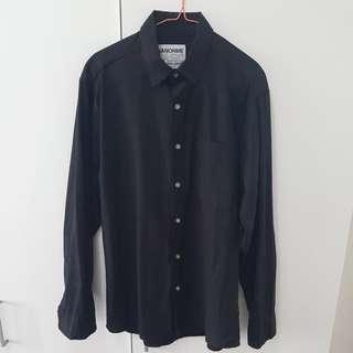 Nano Nine Black Casual Comfort Shirt