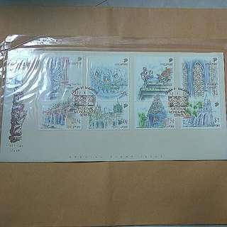 1991 Singapore National Monument Series FDC