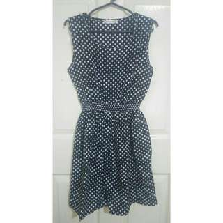 Polka Dot Black And White Summer Dress