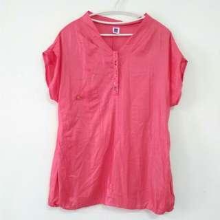 伊蕾品牌桃紅珠繡上衣