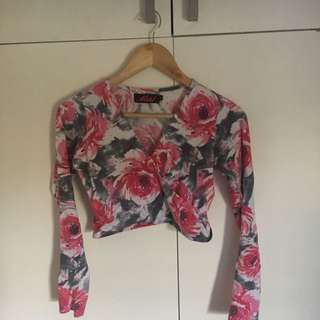 Motel - Long sleeve floral crop