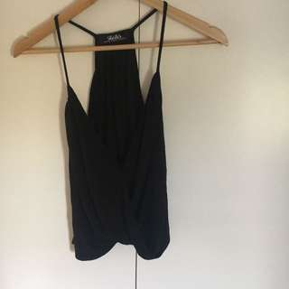 LuLus black scoop neck tank