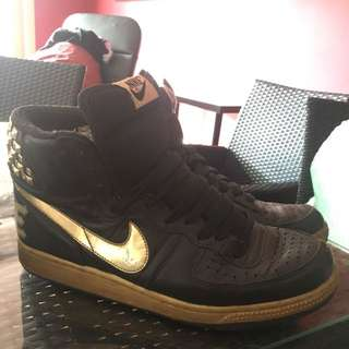 Nike Gold High Tops