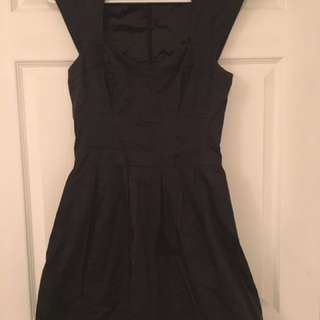 Size 4 FCUK Charcoal Grey Dress