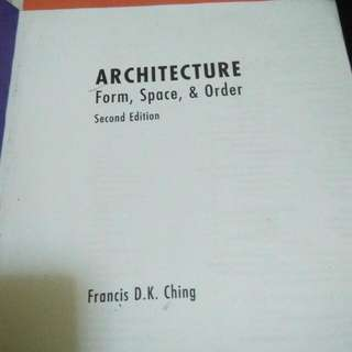 Architecture Book by Ching