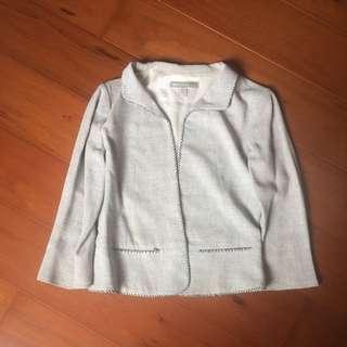灰色麻棉材質外套