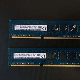 DDR3 8GBx2 Ram For Desktops