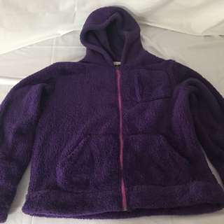 Purple Fleece Ladies Jacket Size Small