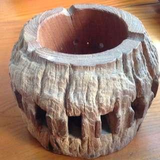風化櫸木爐座、酒精燈座、泡茶溫茶爐具、櫸木藝品