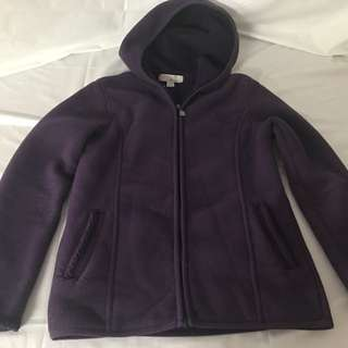 Purple Giordano Jacket Hoodie Size Medium