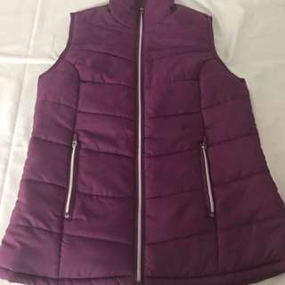 Purple Puffy Vest Size 10