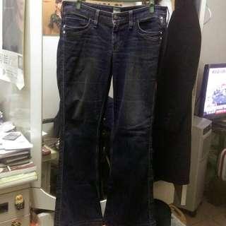 Brappers 深藍色寬管牛仔褲