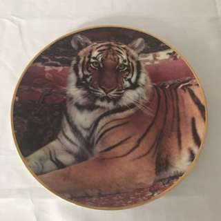The Imperial Tiger Porcelain Plate