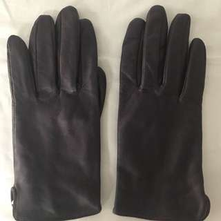 Purple Ladies Gloves Size Medium