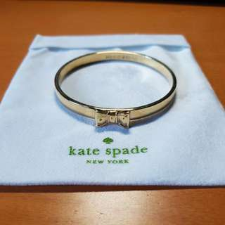 KATE SPADE Take A Bow Bangle Bracelet Gold
