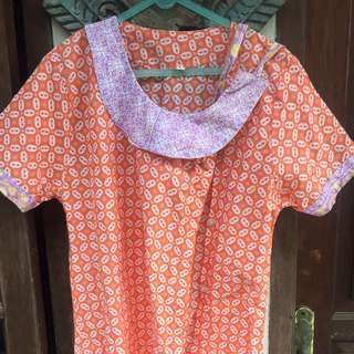 Orange Batik Jumputan size S