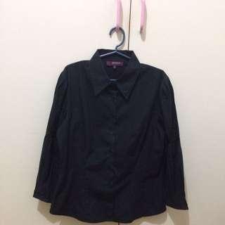 Herbench Black Long Sleeve Polo