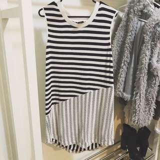 Striped Dress - Size 12