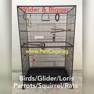 Bird / Parrot / Sugar Glider / Pet Cage With Free Hammock