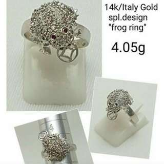 14k Italy Gold Frog ring
