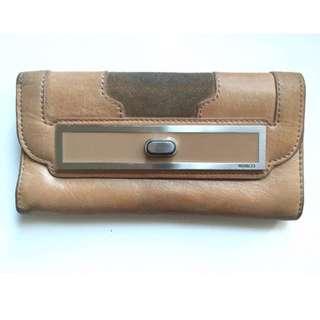 MIMCO tan turnlock wallet