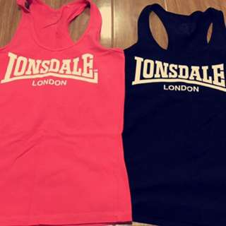 2x londsdale Tank Tops - Black And Pink