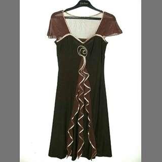 Dress Pesta Cokelat