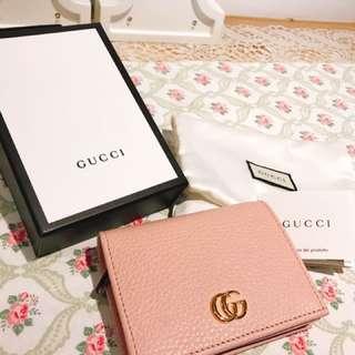 Gucci 短夾 真品 錢包 附防塵袋盒子紙袋