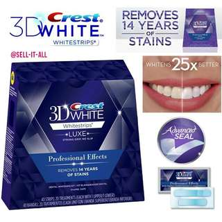 *Cheapest* Crest 3D White Luxe Whitestrips Professional Effects Teeth Whitening