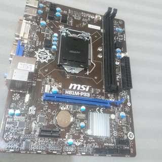 MSI 微星 主機板 H81M-P33 1150腳位