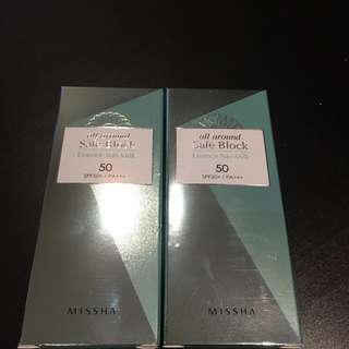 Missha All Around Safe Block Essence Sun Milk SPF 50+