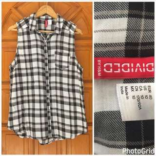 Divided By H&M Checkered Top