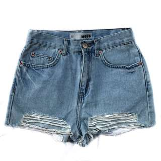 Topshop Moto High Waist Shorts