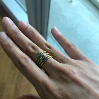 Stackable Rings In Gold And Silver