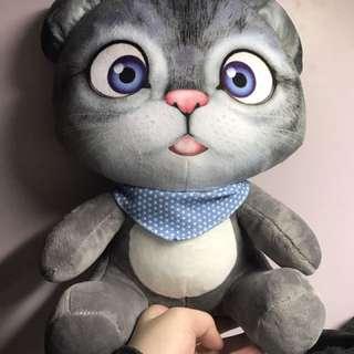 灰色貓咪娃娃