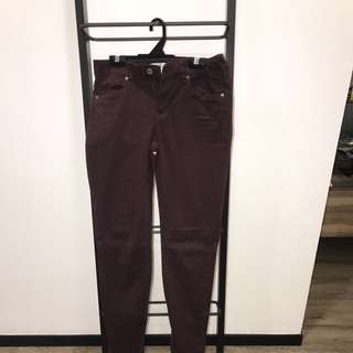 Brand New H&M Maroon Pants Size EUR38
