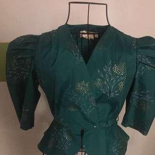 Spectacular vintage peplum jacket