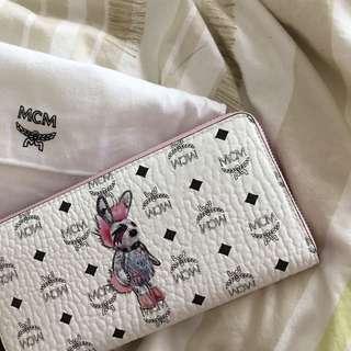 快來!可以議價 超急出清🌸全新保證正品 韓國精品MCM 粉色白底兔子長夾