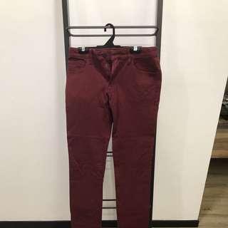 Brand New Uniqlo Maroon Jeans Size 29