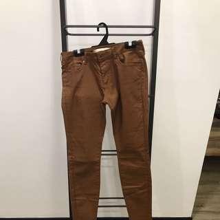 Brand New Zara Skinny Jeans Brown Size EUR38