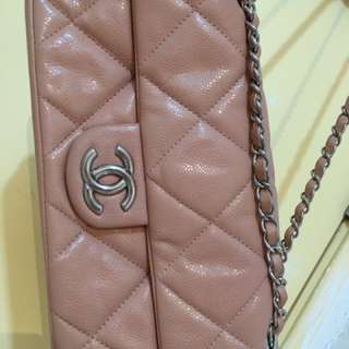 100%真品!賣/交換!Chanel肉粉紅色袋real真皮袋勁靚2.55(不議價)