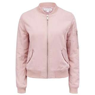 Forever New Dusty Pink Bomber Jacket Au12